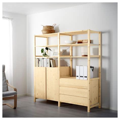 ikea ivar ivar 2 sections shelves cabinet chest pine 174x50x179 cm