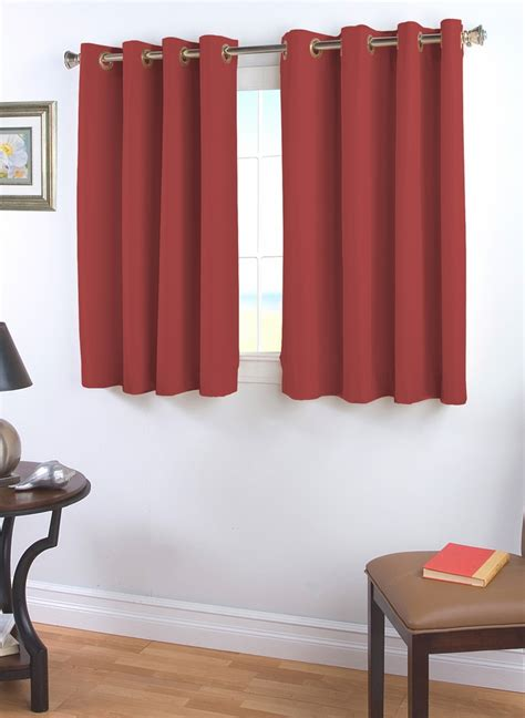 thermal cafe curtains elegance insulated grommet curtain with wand