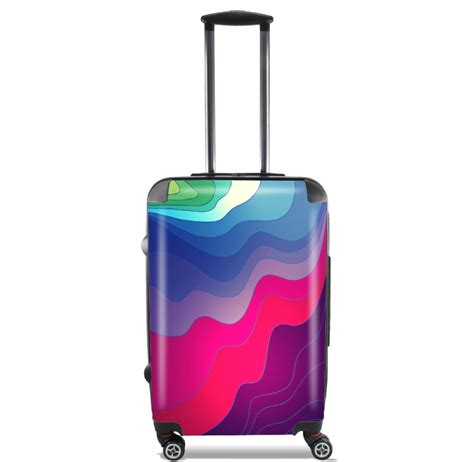 lines cabine lightweight luggage bag cabin baggage with purple