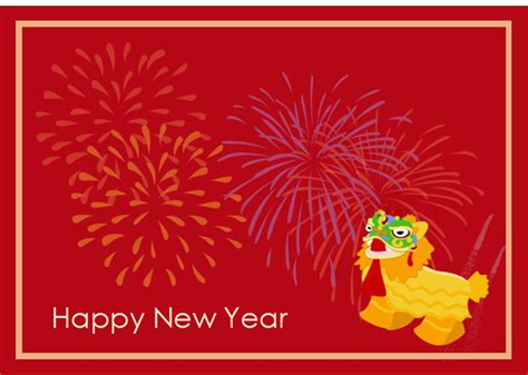 happy new year template card new year card exles and templates