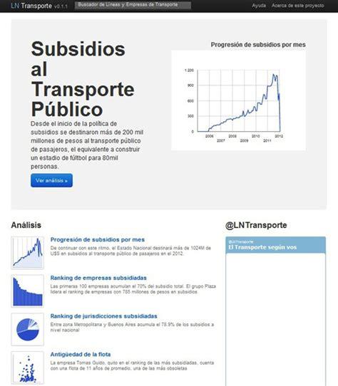 subsidio transporte para empleadas domesticas subsidios a colectivos en argentina manual de periodismo
