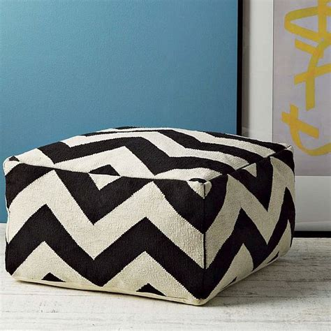 west elm floor pillow modern zigzag floor pouf