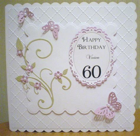 Handmade 60th Birthday Card Ideas - 60th birthday card spellbinders