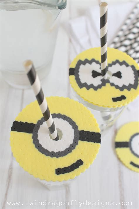 things to make with perler perler bead minion cup cover 187 dragonfly designs