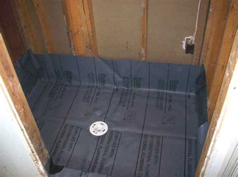 How To Install A Shower Pan Liner by Shower Pan