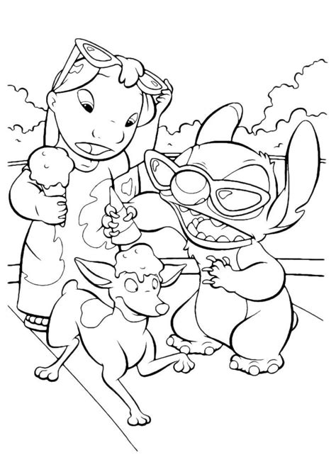 coloring pages of lilo and stitch free printable lilo and stitch coloring pages for kids