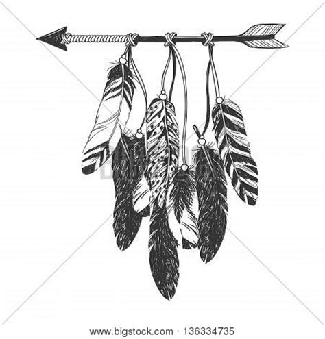 dreamcatcher arrow feathers vector amp photo bigstock