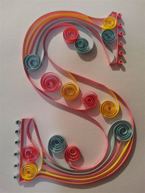 paper quilling alphabets tutorial quilled monogram letter s via etsy paper typography