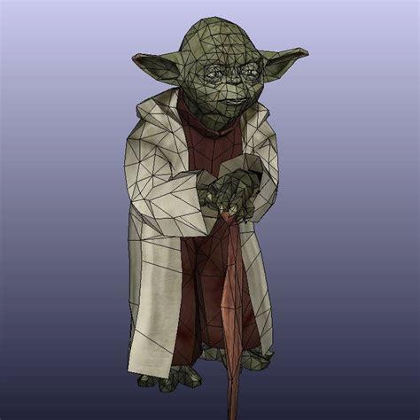 Yoda Papercraft - wars papercraft size yoda