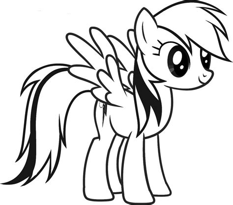 my little pony coloring pages of rainbow dash color my little pony