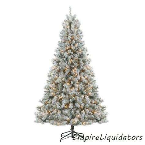 donner blitzen christmas ttrees donner blitzen 7 5 alberta flocked spruce tree w clear lights ebay