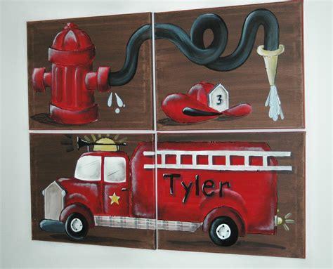firetruck bedroom fire truck wall art mural for boys rooms austinartworks