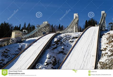 design of ski jump hill ski jumping hill royalty free stock photos image 25950158