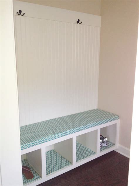 mudroom bench cushion no sew bench cushion and shelf liners i made the mudroom