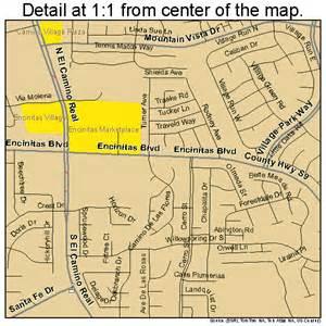 encinitas california map 0622678