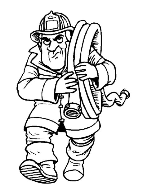 fireman coloring pages fireman coloring pages coloringpages1001