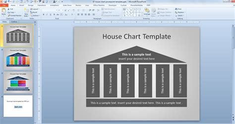 house powerpoint template free house chart template for powerpoint powerpoint