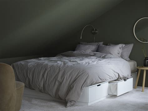 nordli bed ikea create a beautiful centrepiece in your bedroom with nordli bed frame including six soft closing