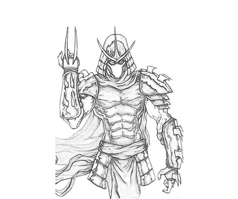 ninja turtles shredder coloring pages the gallery for gt teenage mutant ninja turtles shredder