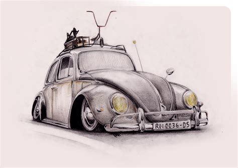 volkswagen bug drawing vw beetle rat by ribadesign on deviantart