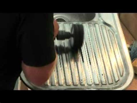 restore stainless steel sink restoring a stainless steel sink youtube