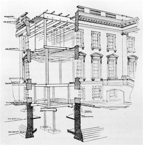 Cross Section by Residence White House Museum