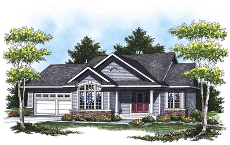 Lovely Ranch With Cathedral Ceilings 89284ah House Plans With Cathedral Ceilings