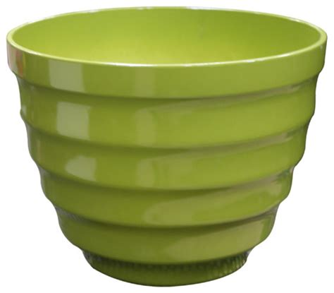 Big Planter Pots by 20 Quot Rippled Planter Large Light Green