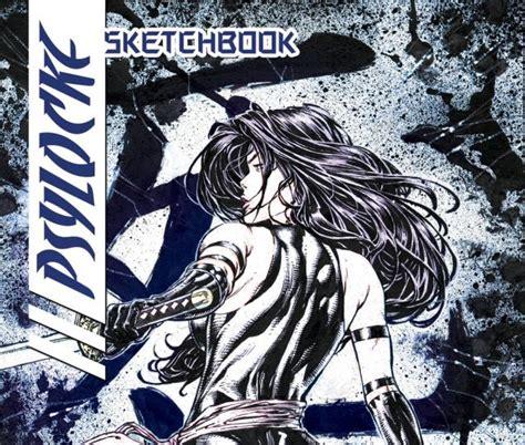 sketchbook marvel psylocke sketchbook 2009 1 comics marvel