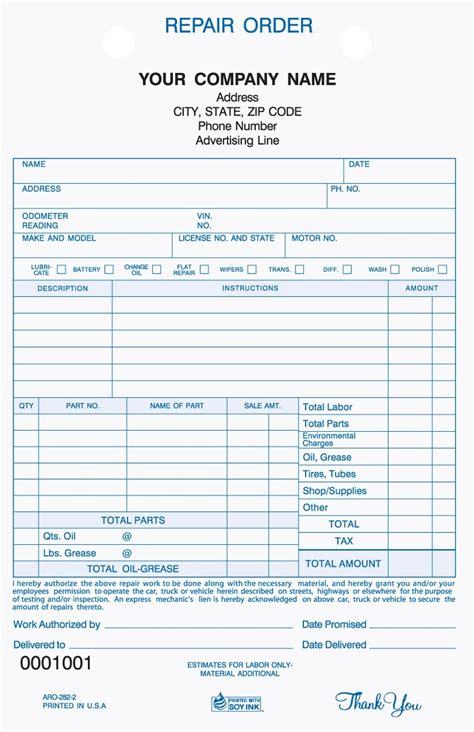 repair receipt template vehicle repair invoice invoice template ideas