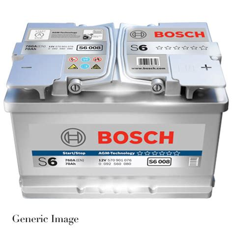 Bmw E60 Battery by Bmw 5 Series E60 523i Bosch S6 Agm Car Battery Type 019