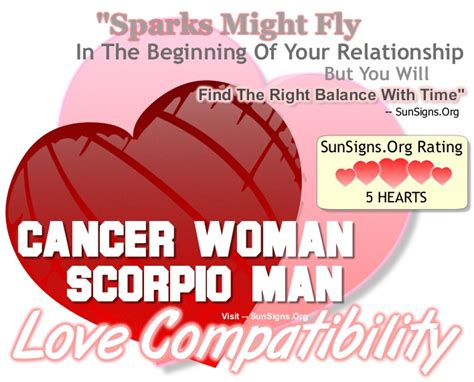 cancer woman and scorpio man an excellent and balanced