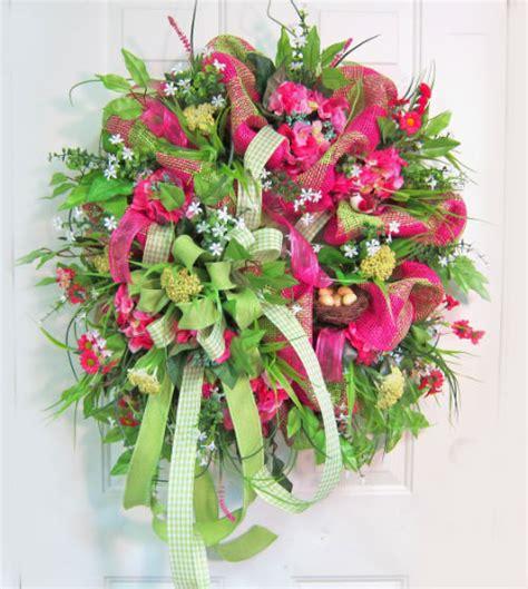 how to make a spring wreath deco mesh spring door wreath ladybug wreaths by nancy