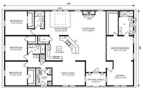4 bedroom modular home plans floor plans for ranch style modular homes with pantry