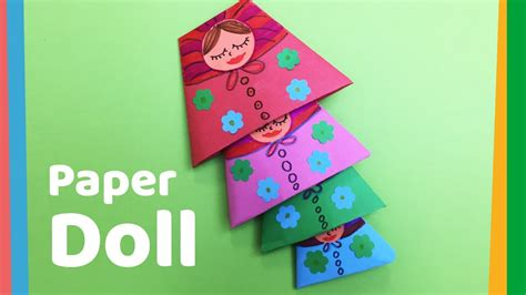 How To Make Doll From Paper - how to make paper doll easy nested doll for