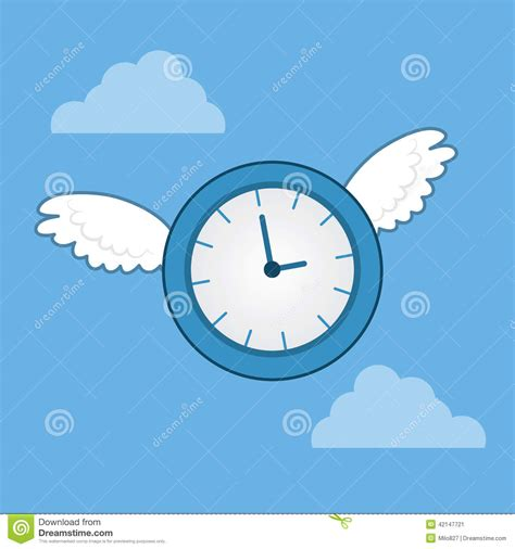 Time Sure Flies With These Clocks by Time Flies Wings Stock Vector Image Of Clock Minute