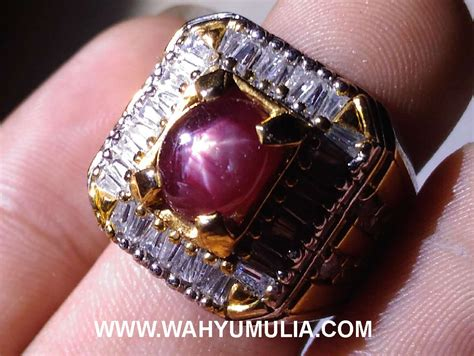 Batu Rubi batu cincin permata ruby kode 374 wahyu mulia
