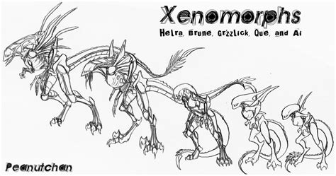 Xenomorph Coloring Page by Xenomorph Coloring Pages Coloring Pages