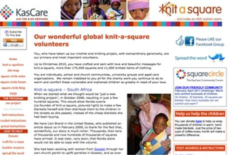 knitting for charity africa knitting for charity www knit a square