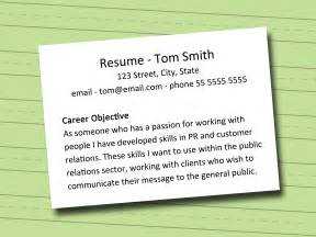 How Do I Write An Objective For A Resume by How To Write A Career Objective 5 Steps With Pictures
