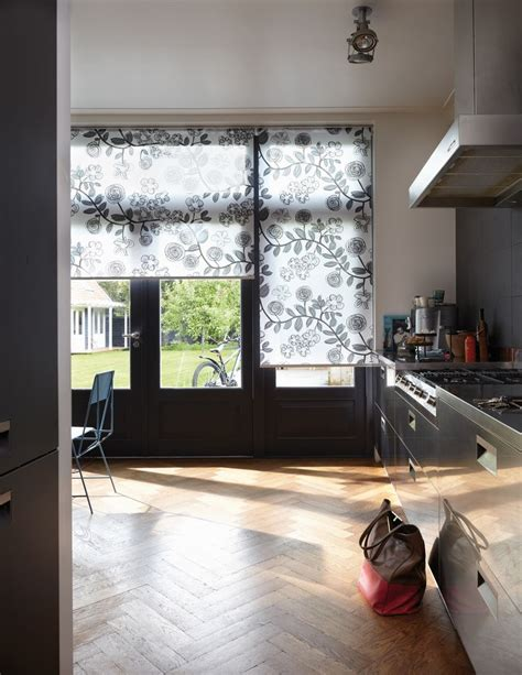 kitchen blinds contemporary flora and fauna designs in this luxaflex kitchen roller