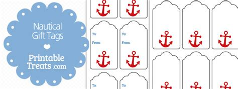 free printable nautical name tags nautical gift tags printable treats com