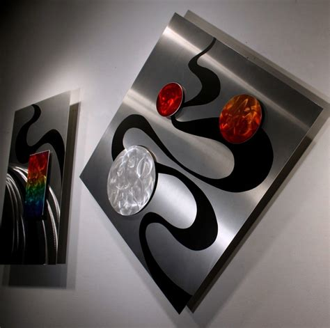 wilmos kovacs modern abstract unique metal sculpture - Unique Metal Wall Decor