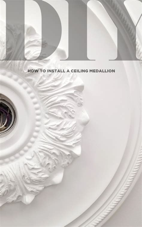how to install a ceiling medallion and lighting diy