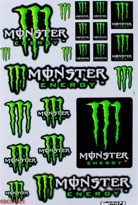 Monster Aufkleber by Green Monster Energy Claws Sticker Decal Supercross By