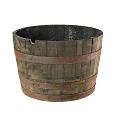 Wooden Barrel Planters At Lowes by Outdoor Planters Planters And Woods On