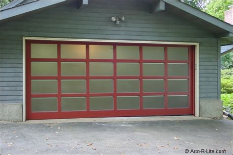residential frosted glass garage door by arm r lite