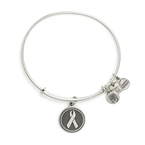 this ribbon of strength charm bracelet alex and