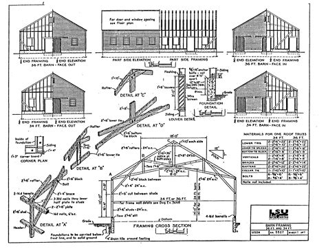 barn blueprints pole barns cabin plans with a loft joy studio design