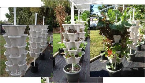 Vertical Vegetable Garden Planters Diy Vertical Hydroponic 4 Tower Kit